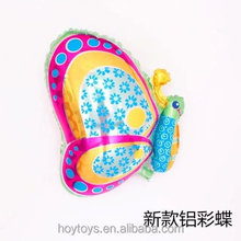 2017Colorful flying butterfly shaped helium foil balloon party animal stuffing machine