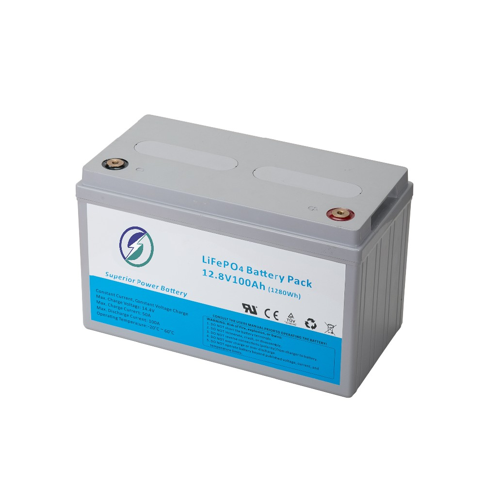 Lead acid AGM replacement battery Pack lifepo4 12.8v 100Ah with 26650 li ion cells