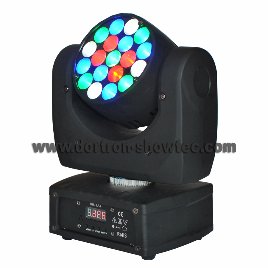 led beam moving head light 19x3w rgbw