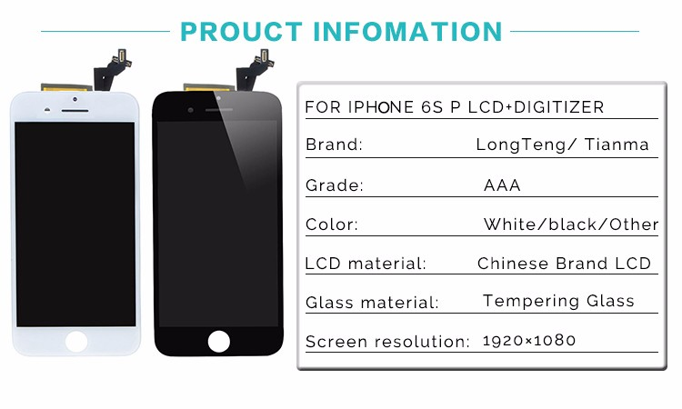 China Copy Lcd Replacement With Digitizer Assembly For Iphone 6S Plus Lcd Screen Digitizer