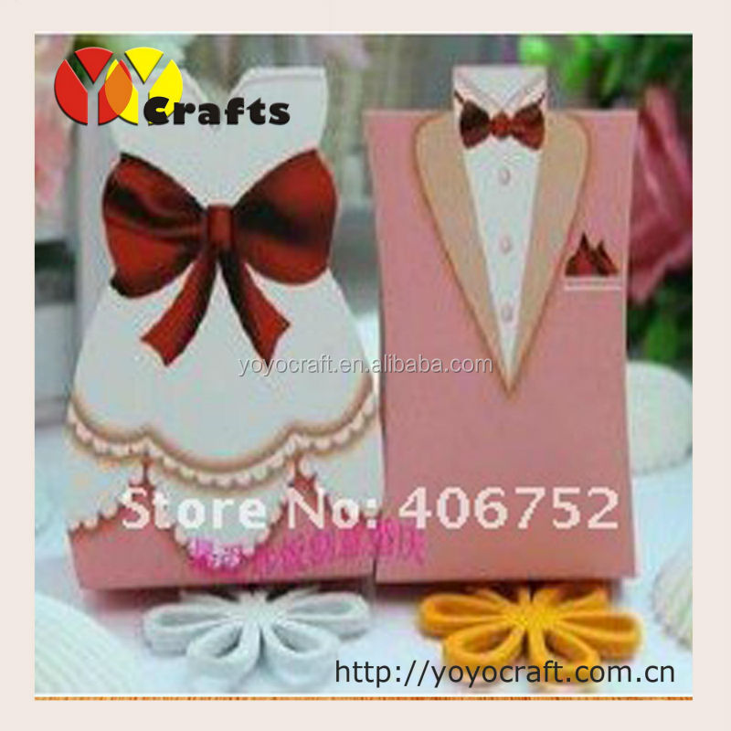 2014 new products wedding supplies cake packaging paper boxes bride and groom wedding favors