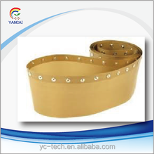 ptfe teflon fabric button belts