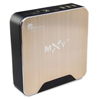 1chip android smart media player e digital set top box S905 quad core MXV+ android Tv Box