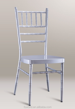 Nice wholesale hotel wedding aluminum Stackable chiavari chair
