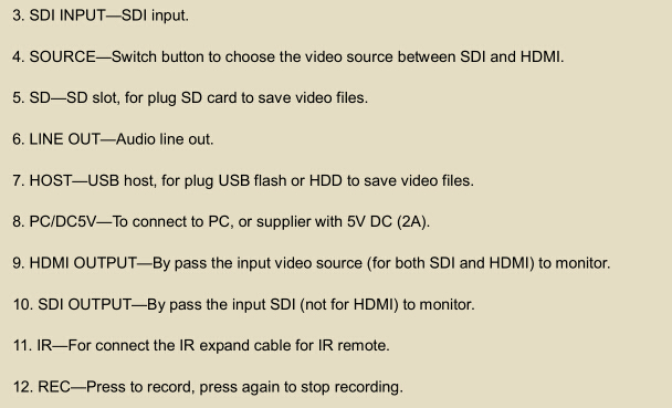 HD Video Capture With Video Input SDI/HDMI