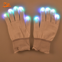 wholesale hot party finger gloves led