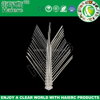 Haierc Stainless Steel Bird Spikes,factory cheap plastic polycarbonate Bird Spike Anti Bird & Pigeons Spike