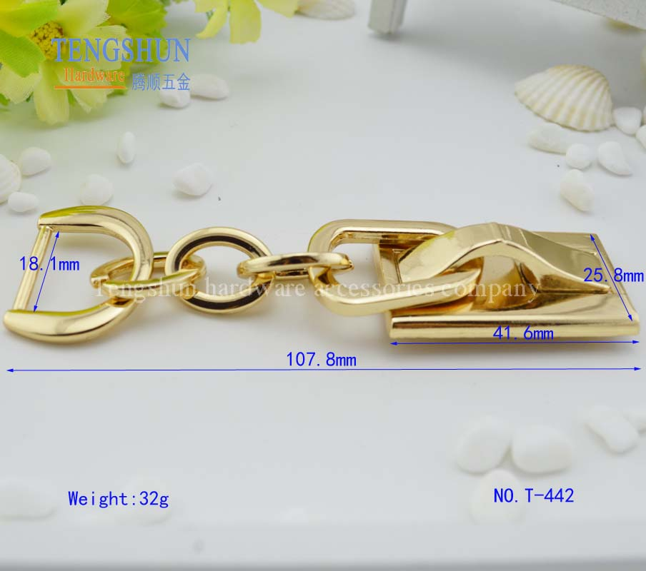 zinc alloy decorative chain for purse metel handle for bag parts wholesale
