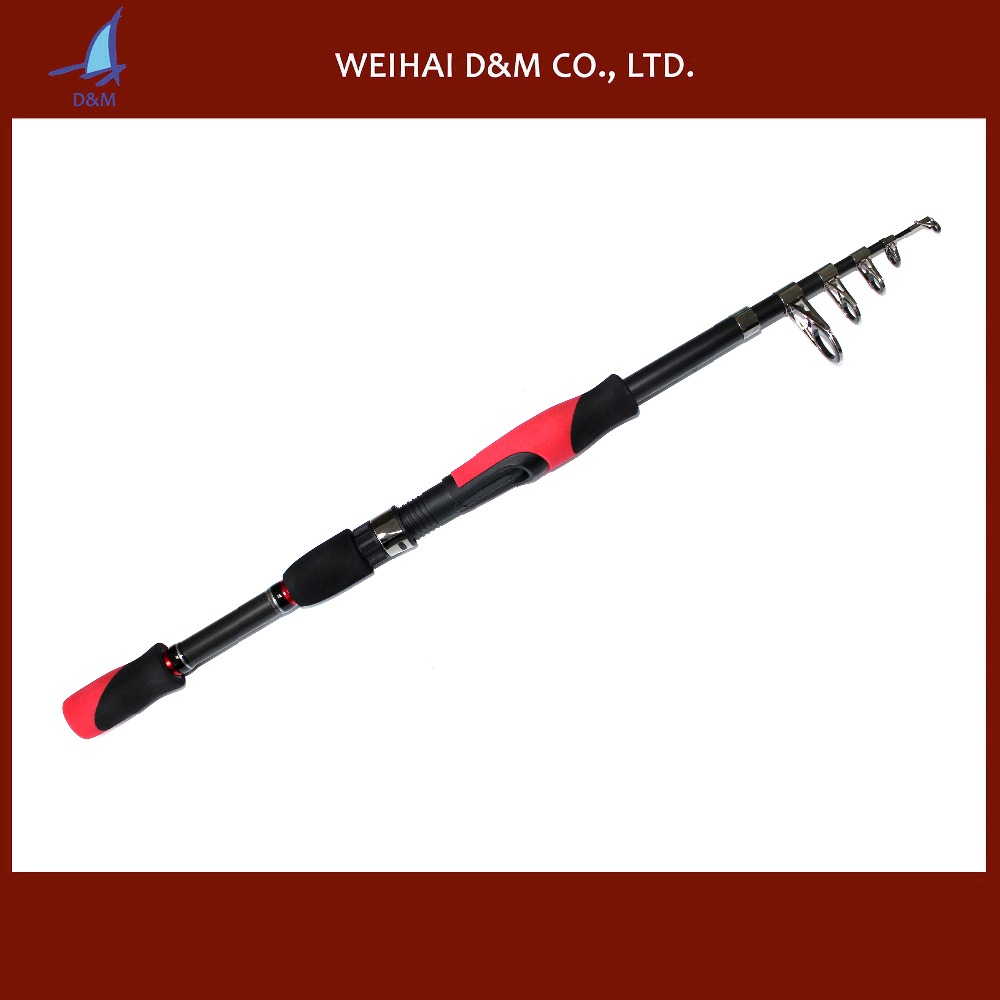 Hotsale telescopic carbon folding fishing rods for spinning fishing