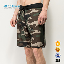 Custom 4-way stretch camo & black Boardshorts for men Digital printed swimming beach shorts with back pocket