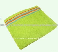 Cotton Yarn Dyed Green Soft Bathroom Hand Towels