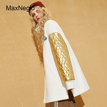Maxnegio Woman Fancy Long Coat Winter Woolen Jacket Sports Embroidery Girls Overcoat