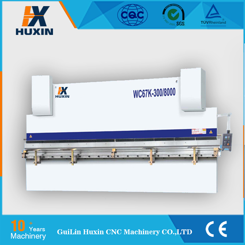 Huxin Brand 4 axis CNC Press Brake 135 ton,CNC Hydraulic Press Brake 135T / 3050 with Delem DA52s CNC Y1 Y2 X R-axis & Crowning