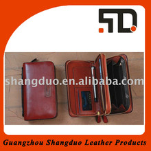Guangzhou Factory Old Fashion Custom Leather Clutch Wallet