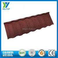 Relitop red stone coated metal building material roof tiles