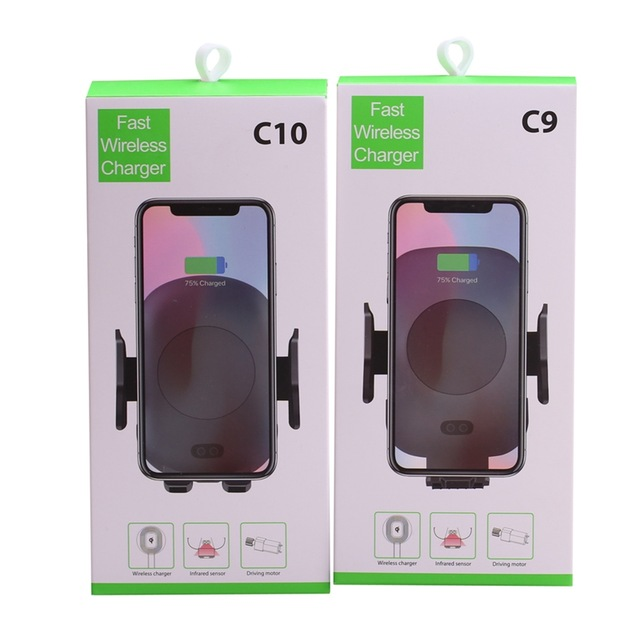 C9 <strong>C10</strong> 10W Automatic Infrared Induction QI Fast Wireless Charger Car for iPhone X Xs Max XR For Samsung