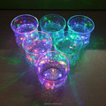 Factory price colorful customized led glitter wine glass