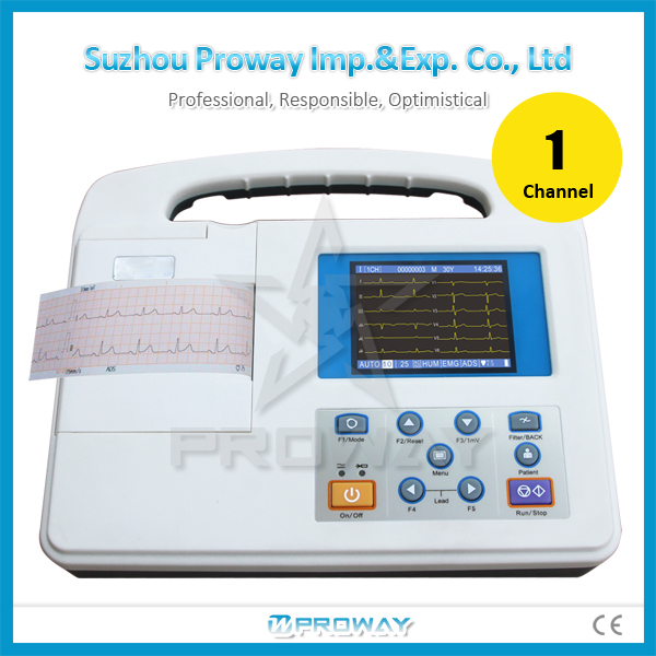 ecg/ekg R2301, ecg/ekg machine, single channel portable with ISO with warranty and after-sales service of China manufacturer