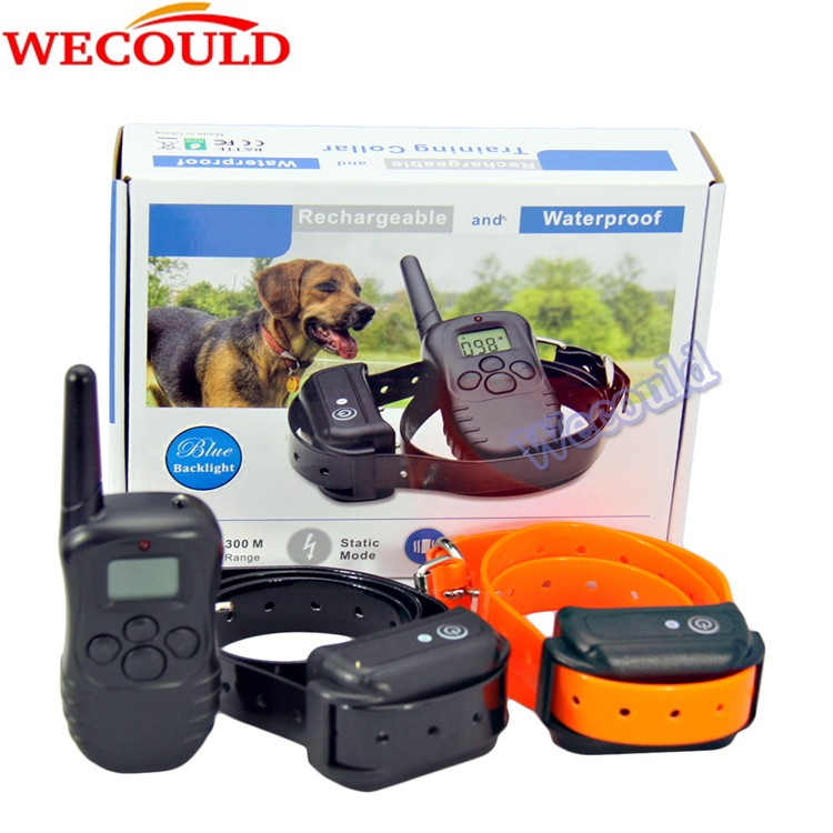 WECOULD 998DB shock electric pet dog training collar with 330yards remote range and orange button