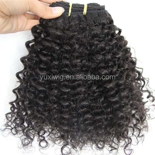 100% virgin hair highest quality 3a kinky curly weave hair in stock