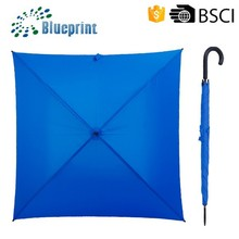 Double Ribs Blue Pongee Square Wholesale Umbrellas Suppliers