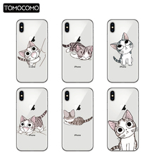 TOMOCOMO Cute Cat Phone Case For iphone5 6 6Plus 7 7Plus 8 8Plus x Soft TPU Covers Soft TPU Silicone Phone Shell Capa Cases