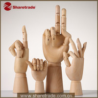 High Fashion Promotion Wooden Decorative Articulated Poseable Wooden Hand Mannequin