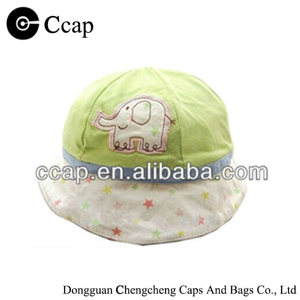 Custom 100% cotton soft bucket hat for little cute baby kid