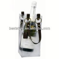 china new design ice pvc wine bag
