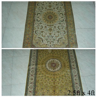 Persian hand knotted mosque prayer carpet rug