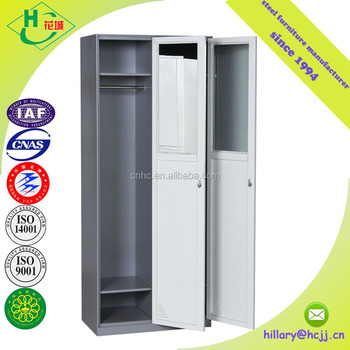 High Quality Double Door Office Clothes Wardrobe Godrej Steel Almirah Cabinet