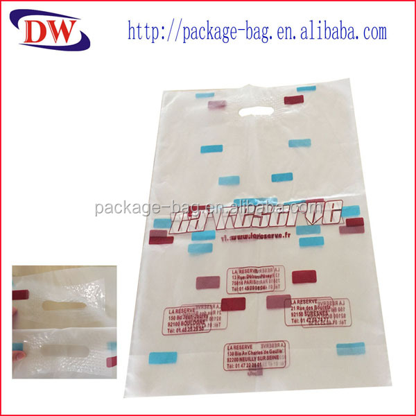 hdpe patch punch hole handle plastic bedding bags