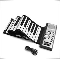 Drop Shipping Portable Musical 61 Keys Flexible Roll-Up Piano USB MIDI Electronic Keyboard Hand Roll Piano