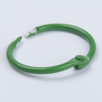 Fashion green color book binding ring round clip