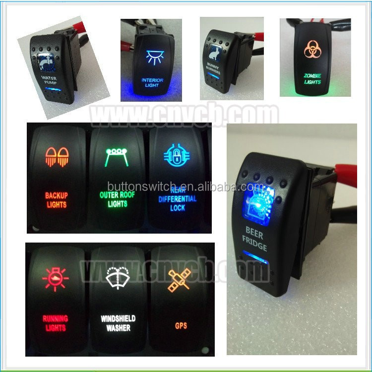 on-off-on electric switch 12v motorcycle/car/bus/marine rocker switch golf cart 6 volt battery