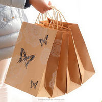 Special design hotsell red wine brown paper gift bag