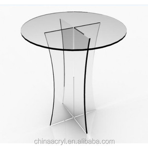 china supplier wholesale clear acrylic round plexiglass table top