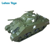 Dropshipping 2017 hot toys 2.4G Electric powered 1/6 Scale RC Tank M4 Sherman with Fiberglass material big tank for boy
