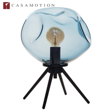 Casamotion hand blown blue color glass ball table lamp