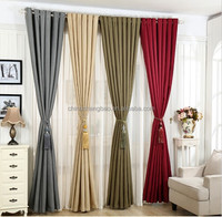 Linen fabric breathable hotel blackout curtain lining