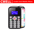 AEKU M9 0.96 Inch Monochrome LCD MTK6261M SOS Function Mini Size Credit Card Mobile Phone