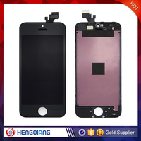 black white lcd lens touch screen display digitizer assembly replacement parts with frame oem for iphone 5