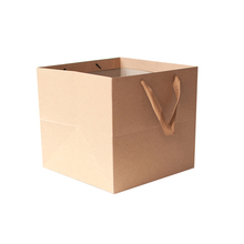 Khaki Extra Large Thickening Brown Paper Bags Online with Handle