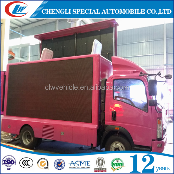 Double Screen LED advertising truck Mobile billboards truck Scrolling advertising truck