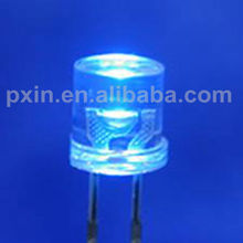 Cheap price blue 5mm flat led with flange