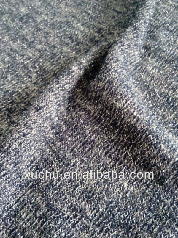 viscose silver cut and sew spandex jersey knitted fabric