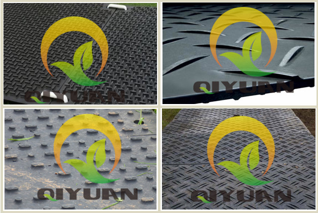 black uhmwpe and hdpe ground protection mat/ temporary platforms/ beach sand blanket