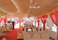 6x12m wedding marquee tent with lining & curtains & lights