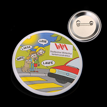 high quality custom pin button badge material /blank button badges /custom company logo
