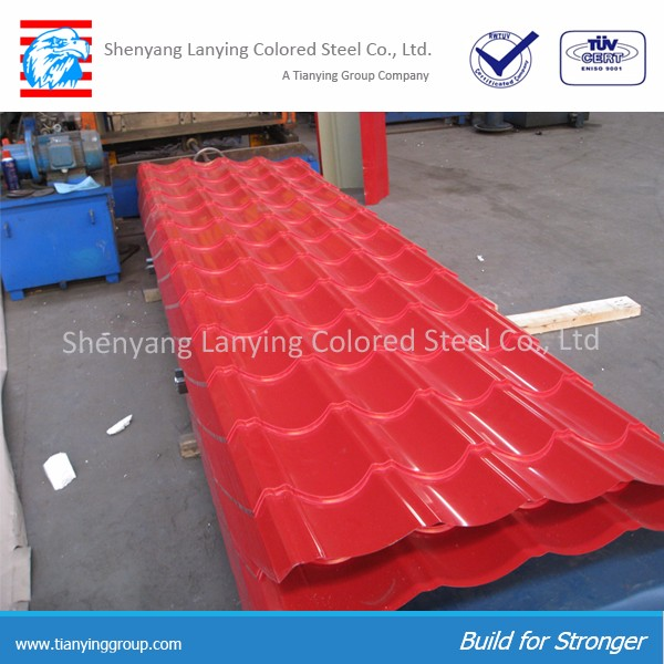 High quality and inexpensive prepainted galvanized corrugated steel sheet and trapezodial steel sheet for sale